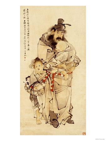Zhoung Kui and His Sister, 1888