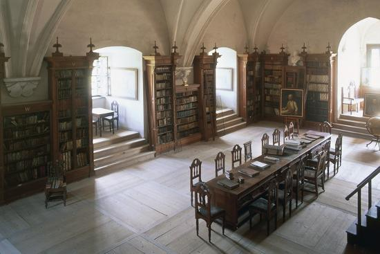 Renaissance Vaulted Library in Pernstejn Castle, 1450-1550, Moravia, Czech Republic--Photographic Print