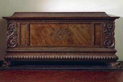 Renaissance Wedding Chest with Columns and Carved Lower Band, Italy, 16th Century--Giclee Print