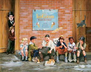 Chaplin Kid Alley Ice Cream by Renate Holzner