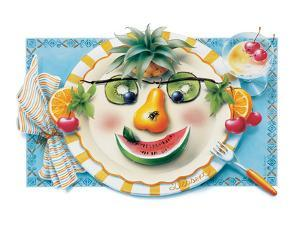 Fruit Face Plate by Renate Holzner