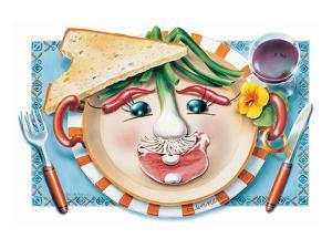 Vegetable Cotlet Face Plate by Renate Holzner