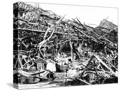 Renault Factory Destroyed by Allied Bombing, Sevres, Near Paris, 1940-1944