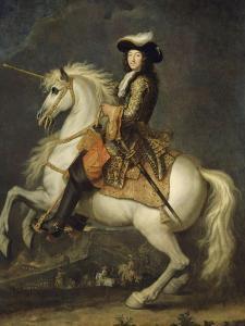 Louis XIV à cheval, roi de France et de Navarre (1638-1715) by René Antoine Houasse