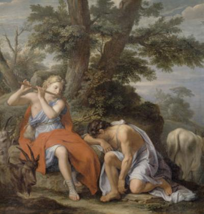 Mercury Playing the Flute to Lull the Shepherd Argus