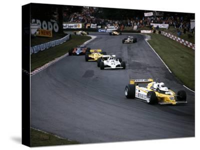 Rene Arnoux in the British Grand Prix, Brands Hatch, 1980