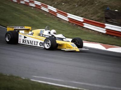 Rene Arnoux Racing a Renault Re20, British Grand Prix, Brands Hatch, 1980--Photographic Print