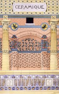Ceramics: Designs for Tiled Wall Schemes, from 'Decorative Sketches', C.1895 (Colour Litho) by Rene Binet