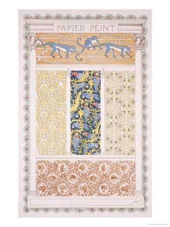 Wallpapers and Friezes, Esquisses Decoratives Binet, c.1895