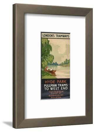 Hyde Park, Pullman Trams to West End, London County Council (LC) Tramways Poster, 1930