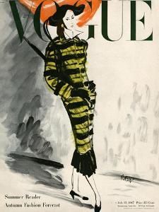 Vogue Cover - July 1947 by René Bouét-Willaumez