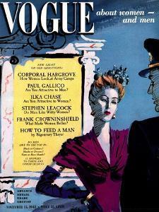 Vogue Cover - November 1942 by René Bouét-Willaumez