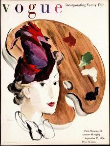 Vogue Cover - September 1936 by René Bouét-Willaumez