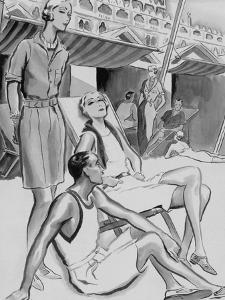 Vogue - December 1929 by René Bouét-Willaumez