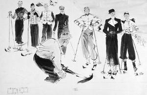 Vogue - December 1936 by René Bouét-Willaumez