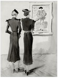 Vogue - January 1936 by René Bouét-Willaumez