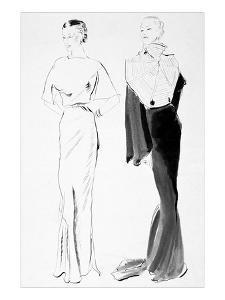 Vogue - November 1934 by René Bouét-Willaumez