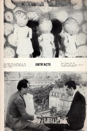 Marcel Duchamp and Man Ray, Page from L'Avant-Scène Featuring 'Entr'Acte' by René Clair