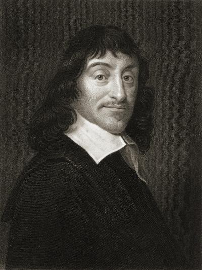 Rene Descartes (1596-1650) from 'The Gallery of Portraits', Published 1833--Giclee Print