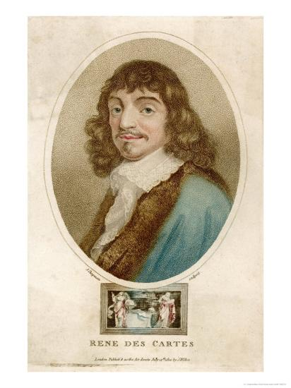 Rene Descartes French Mathematician and Philosopher-J^ Chapman-Giclee Print