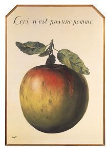Ceci n'est pas une pomme by Rene Magritte