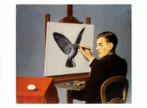 La Clairvoyance by Rene Magritte