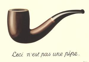 La Trahison des Images (Mini With Border) by Rene Magritte