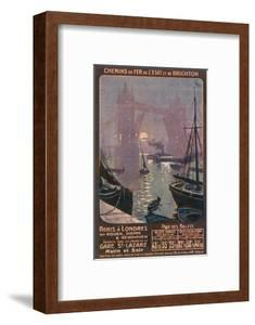 By Rail and Sea from Paris to Brighton or London Featuring the Thames and Tower Bridge by René Péan
