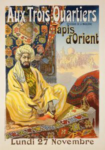 Reproduction of a Poster Advertising 'Oriental Carpets', Exhibited at 'Aux Trois Quartiers', 1899 by Rene Pean