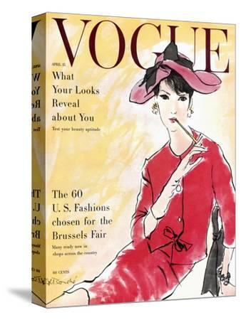Vogue Cover - April 1958 - Power Suit