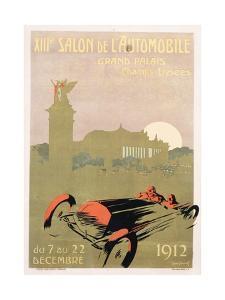 Salon De L'Automobile Poster by Rene Roussef