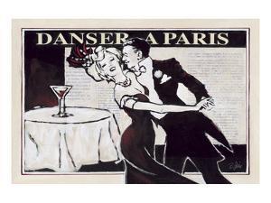 Danser à Paris with Martinis by Rene Stein
