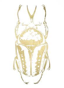 Gold Foil Beetle IV by Renée Stramel