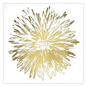 Gold Foil Flower Burst I Deckled by Renée Stramel