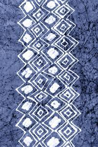Indigo Primitive Patterns IV by Renee W^ Stramel
