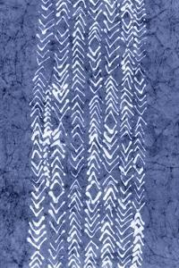 Indigo Primitive Patterns V by Renee W^ Stramel