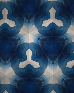 Sapphire Frost I by Renee W^ Stramel