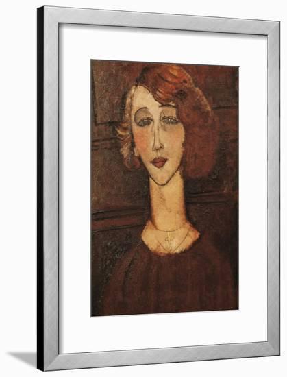 Renée-Amedeo Modigliani-Framed Art Print
