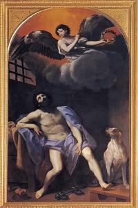St Roch in Prison by Reni Guido