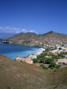 Bay and Town of Mondelo on Sao Vicente Island, Cape Verde Islands, Atlantic Ocean, Africa by Renner Geoff