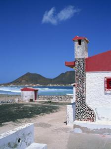 Detail of a Coastal Cottage, Calhau, Sao Vicente, Cape Verde Islands, Atlantic, Africa by Renner Geoff