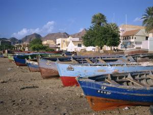 Praia Do Bote in the Town of Mindelo, on Sao Vicente Island, Cape Verde Islands, Atlantic by Renner Geoff
