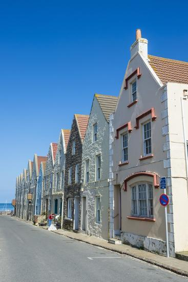Renovated Houses Formerly the Docks in Braye, Alderney, Channel Islands, United Kingdom-Michael Runkel-Photographic Print