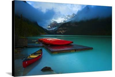 Rental Boats Lake Louise Banff--Stretched Canvas Print