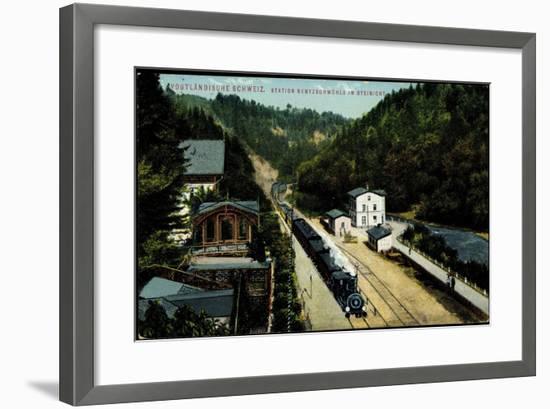 Rentzschmühle Pöhl Vogtland, Bahnstation, Zieher--Framed Giclee Print