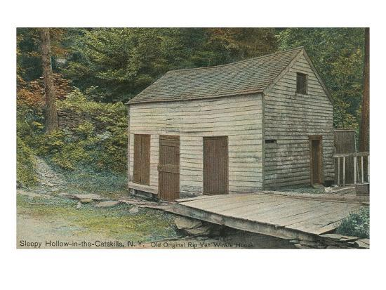 Rep Van Winkle House, Sleepy Hollow, Catskills, New York--Art Print