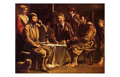 Repas de Paysans, c.1642-Louis Le Nain-Art Print