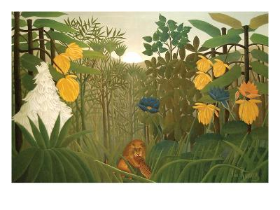 Repast of the Lion-Henri Rousseau-Art Print