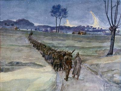 Replacements Arriving for the Trenches, Ypres--Giclee Print