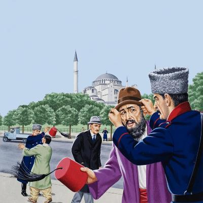 Replacing the Traditional Fez in Turkey-John Keay-Giclee Print